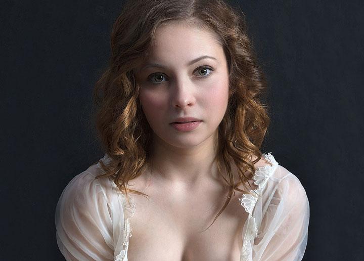 young Ukrainian woman with big boobs