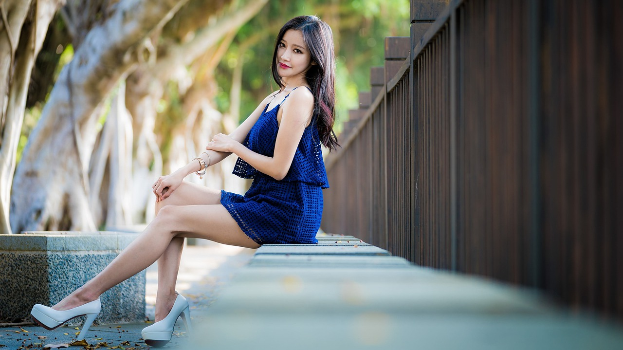 Asian girl with long legs