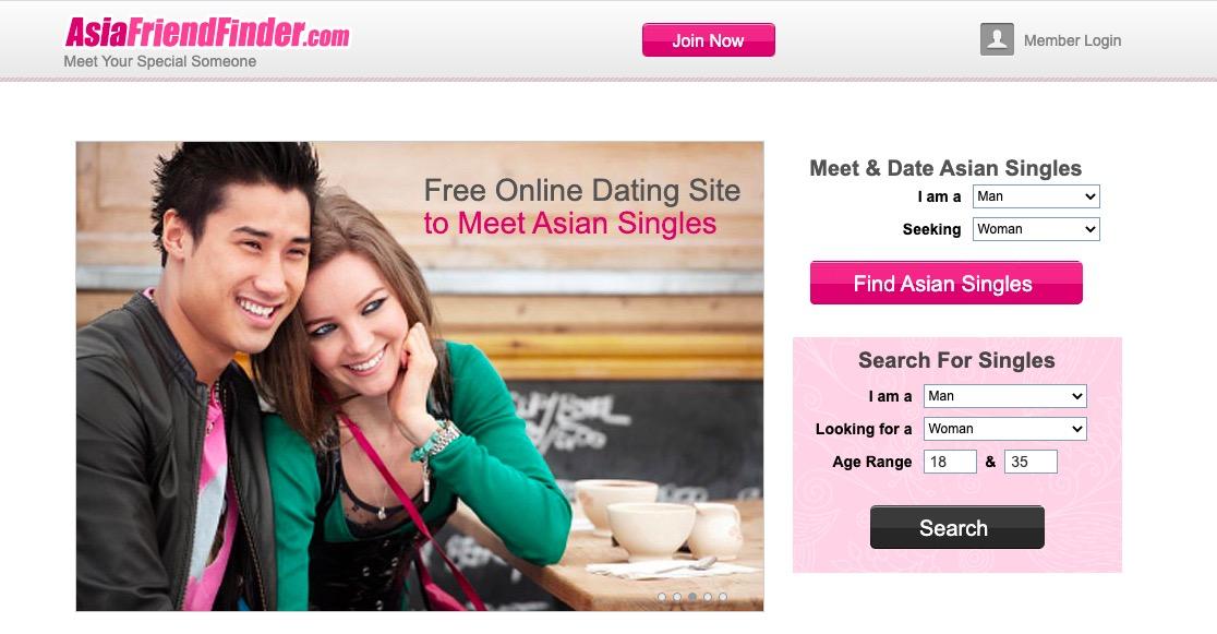 AsianFriendFinder main page