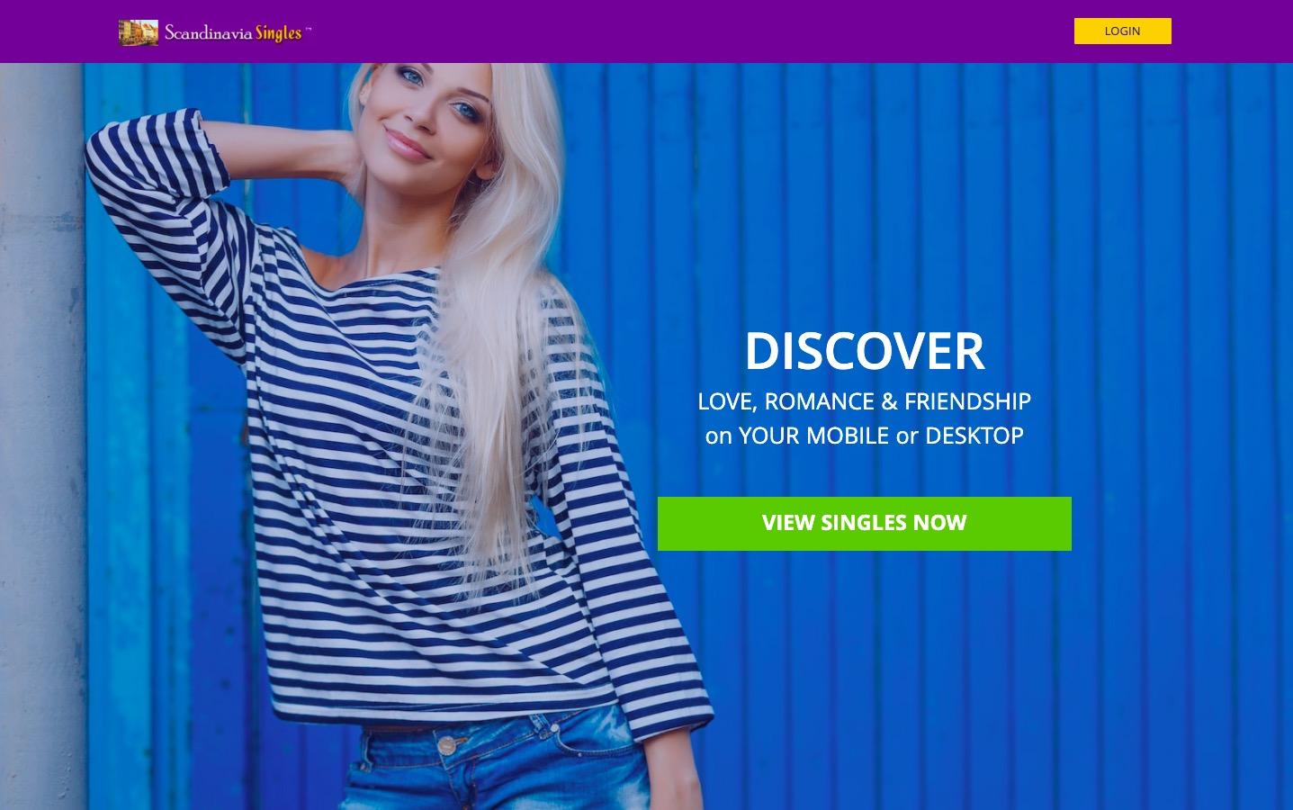 ScandinaviaSingles main page