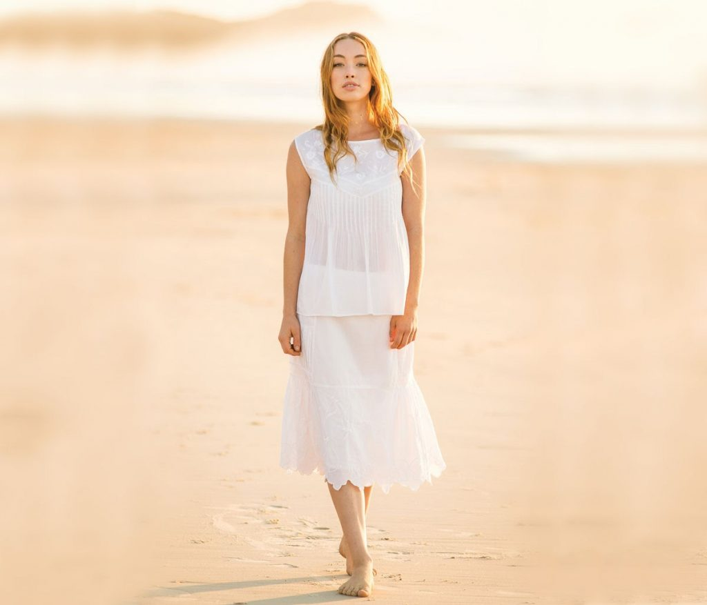 beautiful blonde Scandinavian Bride