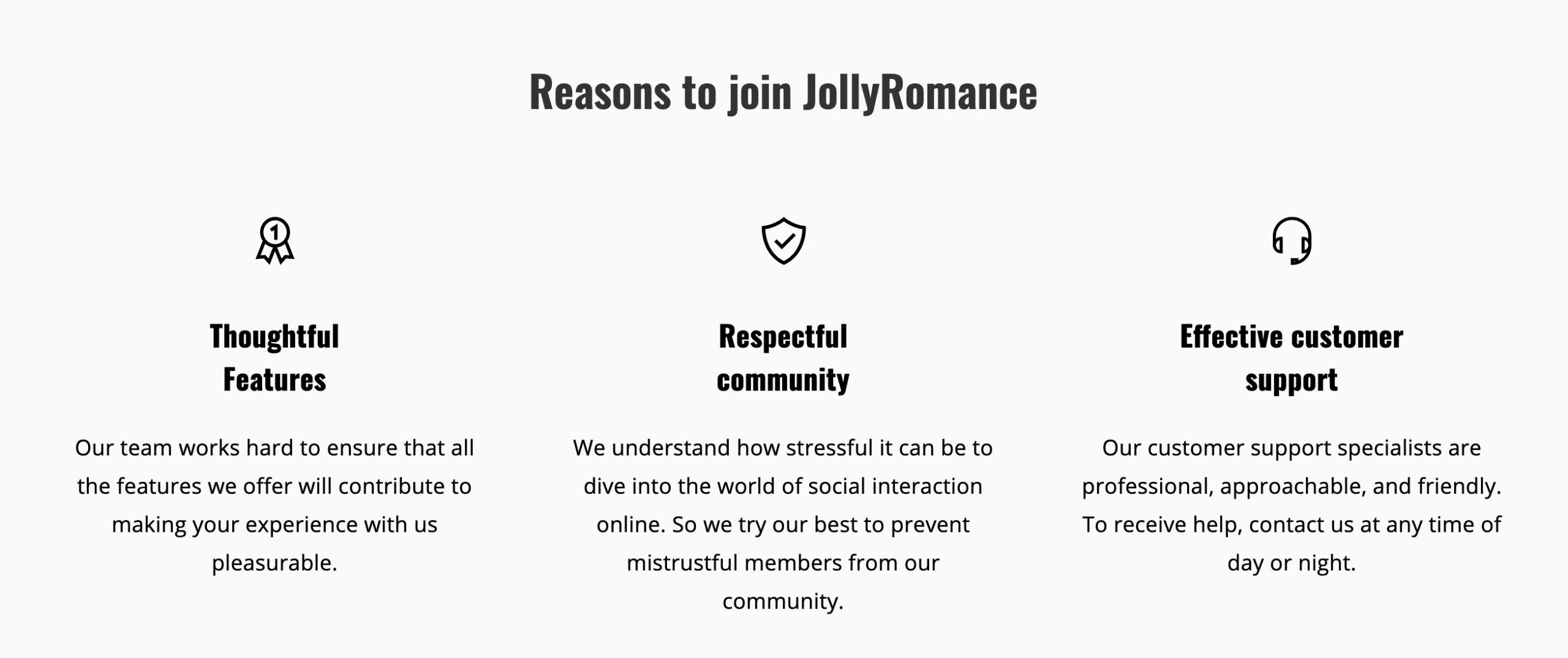 JollyRomance reasons to join