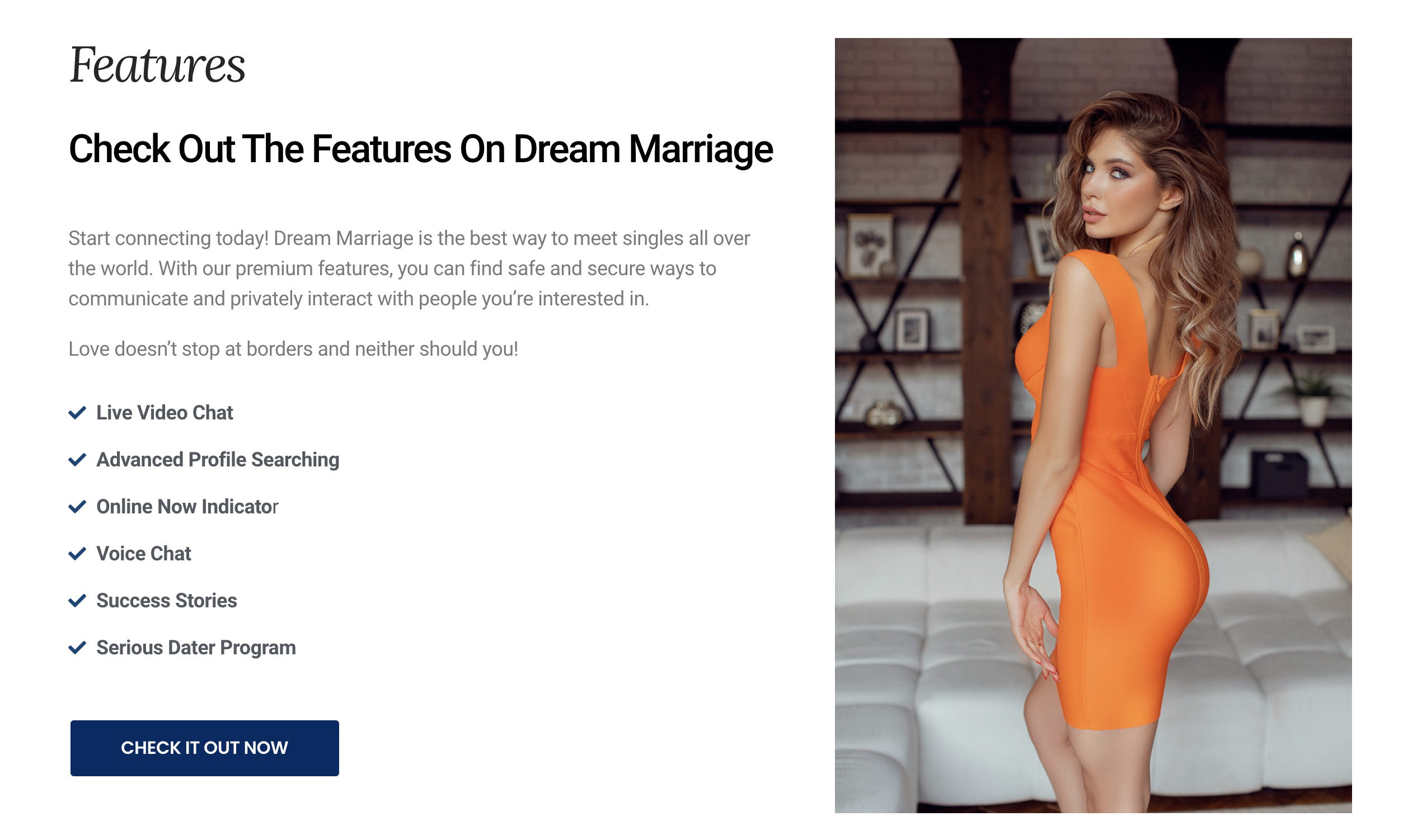 DreamMarriage features