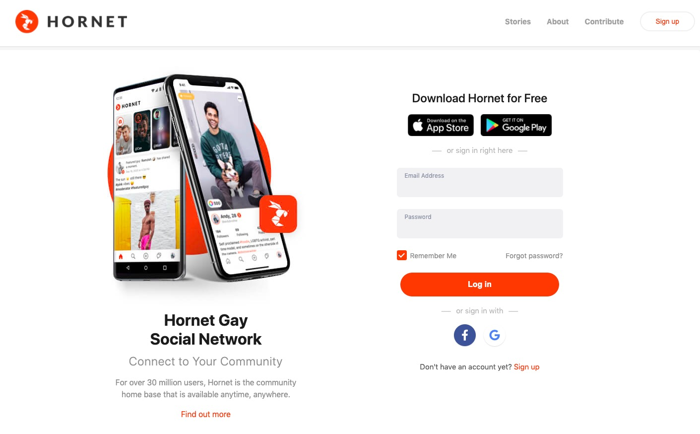 Hornet main page