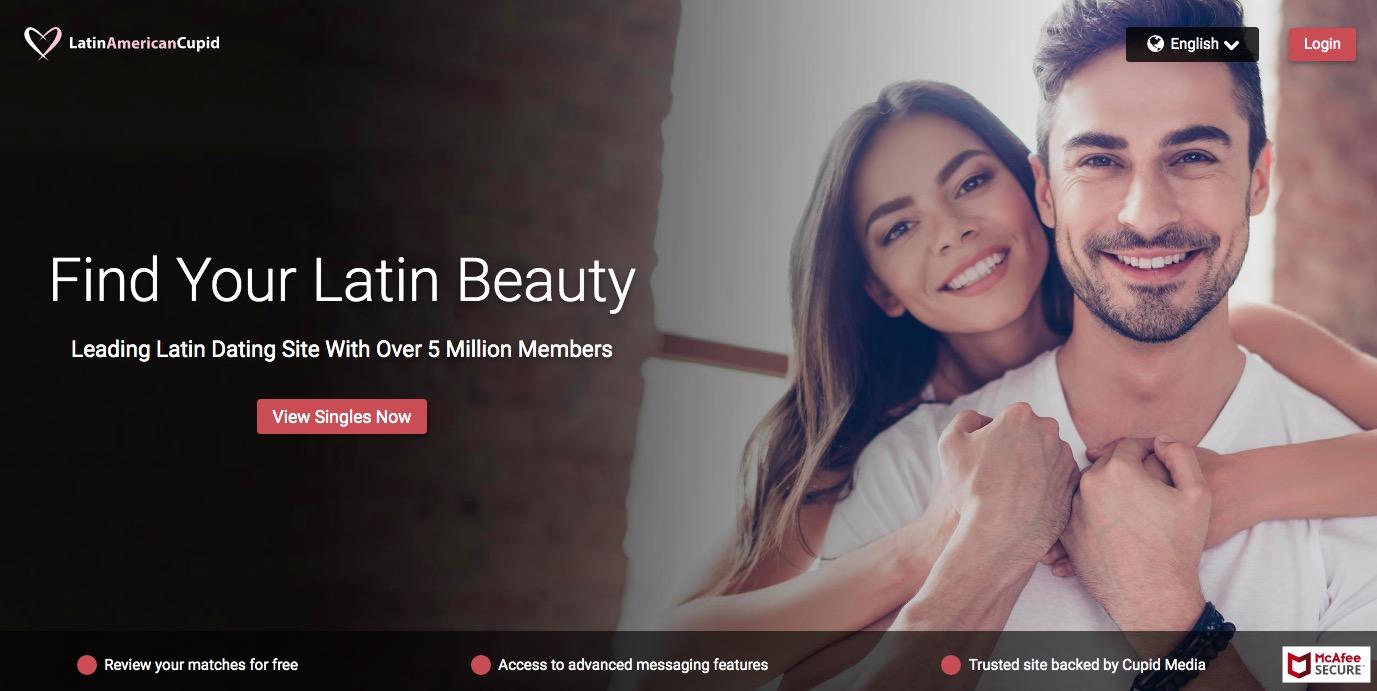 LatinAmericanCupid main page